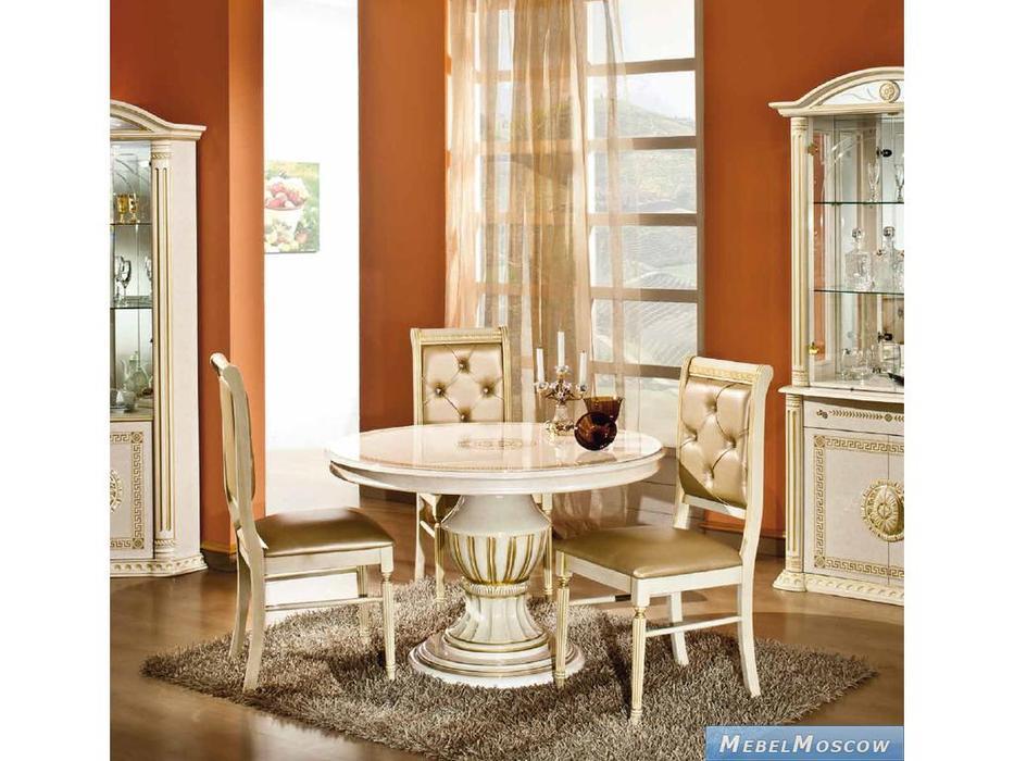 H2O design: Росселла: стул экокожа (бежевый с золотом)
