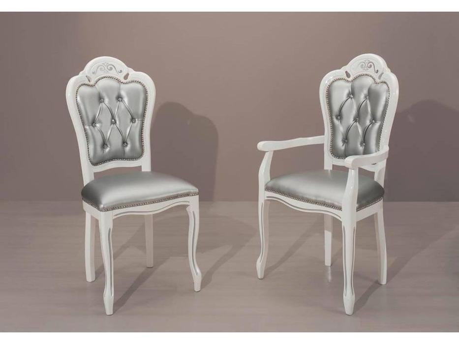H2O design: Brigitte: стул (белый, серебро)