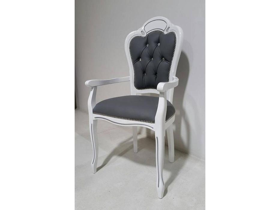 H2O design: Brigitte: кресло (белый, серебро)