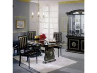 H2O design: Росселла: стол обеденный раскладной 185/230 (черный с золотом)