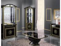 H2O design: Росселла: витрина угловая (черный с золотом)