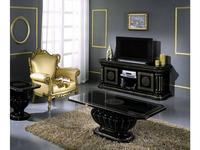 H2O design: Росселла: тумба под телевизор (черный с золотом)