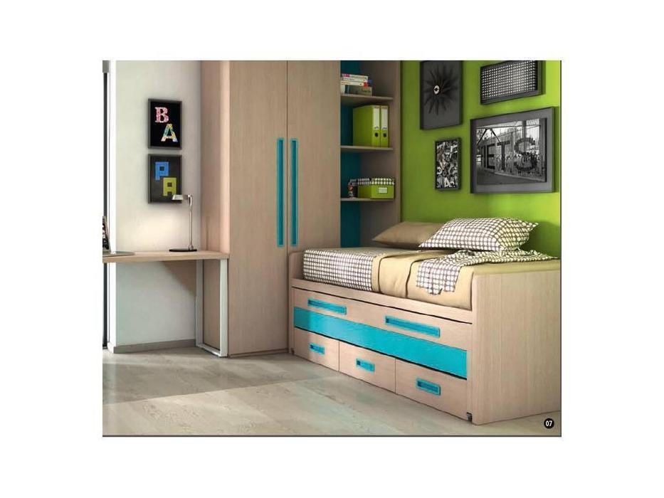 Joype: Diez: кровать 90х190  с выдвижной кроватью и 3 ящ.