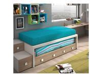 Joype: Diez: кровать 90х190  с выдвижной кроватью и 4 ящ.