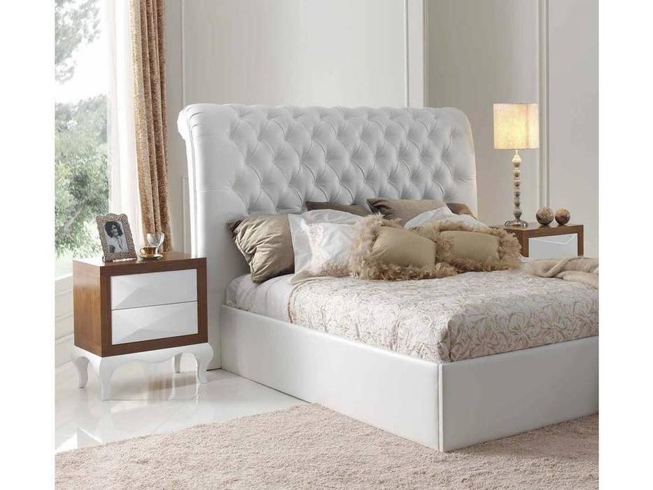 Condor: Alejandra: кровать 180х200  экокожа (белый)