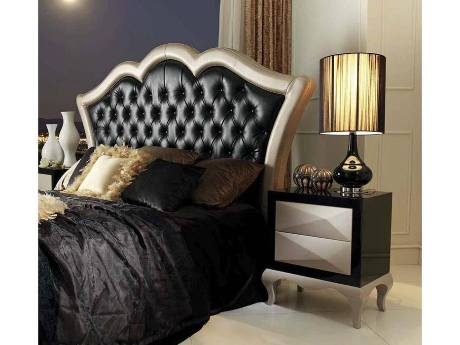Condor: Alejandra: кровать 150х200  экокожа (черный, бежевый)