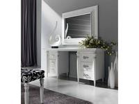 Condor: Siena: стол туалетный  (белый лак, серебро)