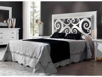 Condor: Siena: кровать 160х200  (белый лак, серебро)