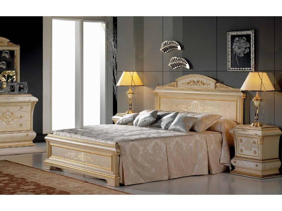 Vicente Zaragoza: Верона 40: кровать 150х200  (слоновая кость, золото)