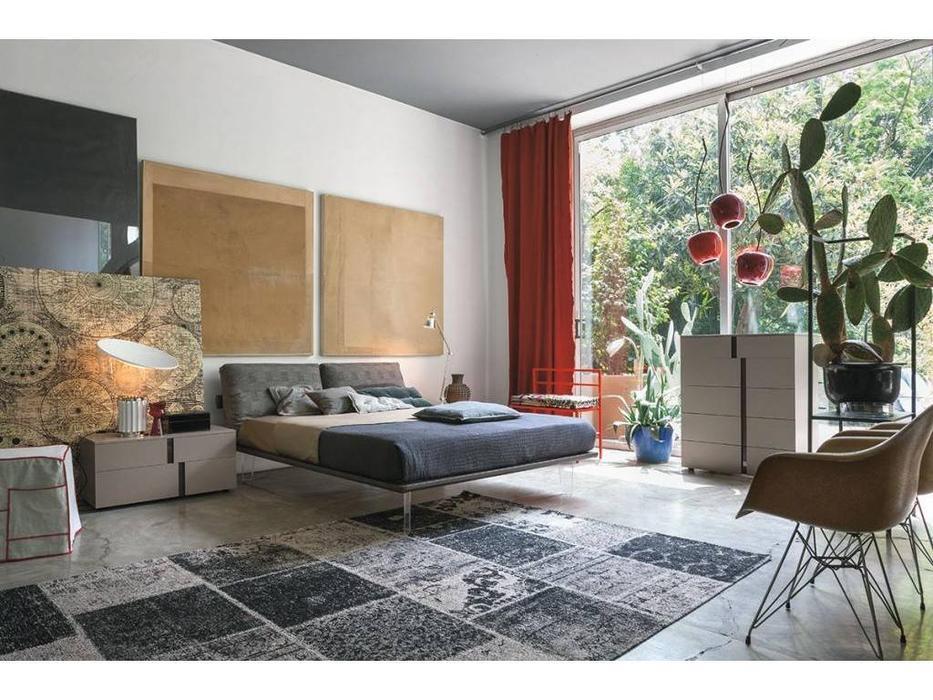Tomasella: Piuma: кровать 180х200  (cenere)