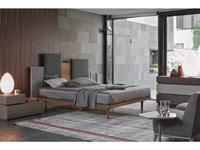 Tomasella: Skyline: кровать 160х190  (rovere, ткань)