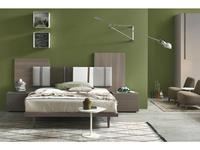 Tomasella: Diagonal: кровать 160х200  (frassino cenere, ткань)