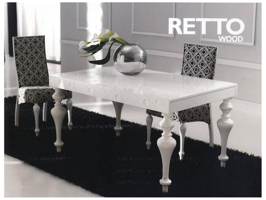 Anzadi Анзади: Retto: стол обеденный Ретто раскладной  (белый)
