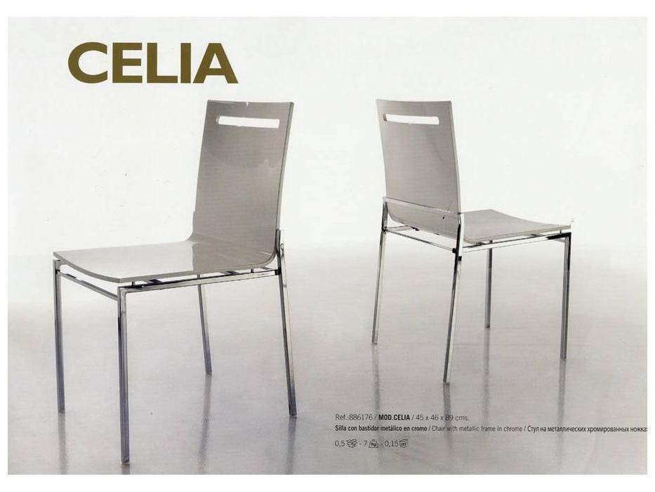 Anzadi Анзади: Celia: стул Селиа на металлических хромированных ножках  (белый)