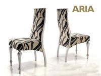 Anzadi Анзади: Aria: стул Ариа с мягкой спинкой  ткань (серебро)