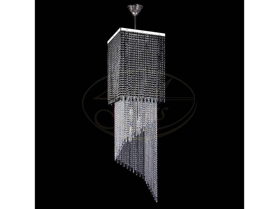 Artglass: люстра AMBRA (никель) 12x40 W