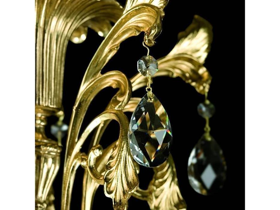 Artglass: люстра ARABELA (шлифованная латунь) 25x40W + 3x60W