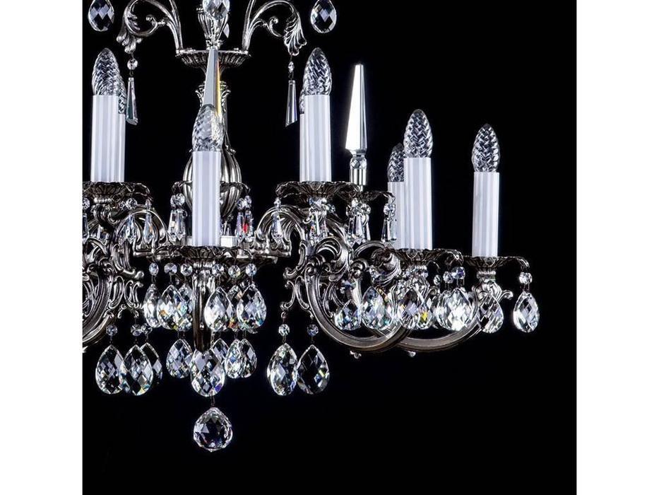 Artglass: люстра ARABELA (никель антик) 12x40 W