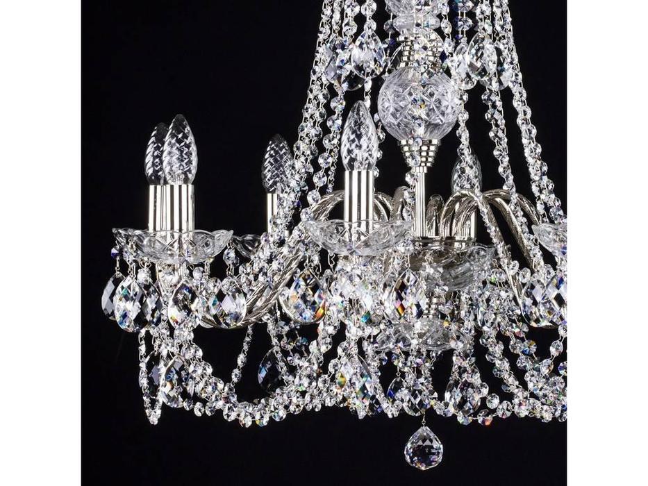 Artglass: люстра ARIANA VIII (никель) 8x40 W