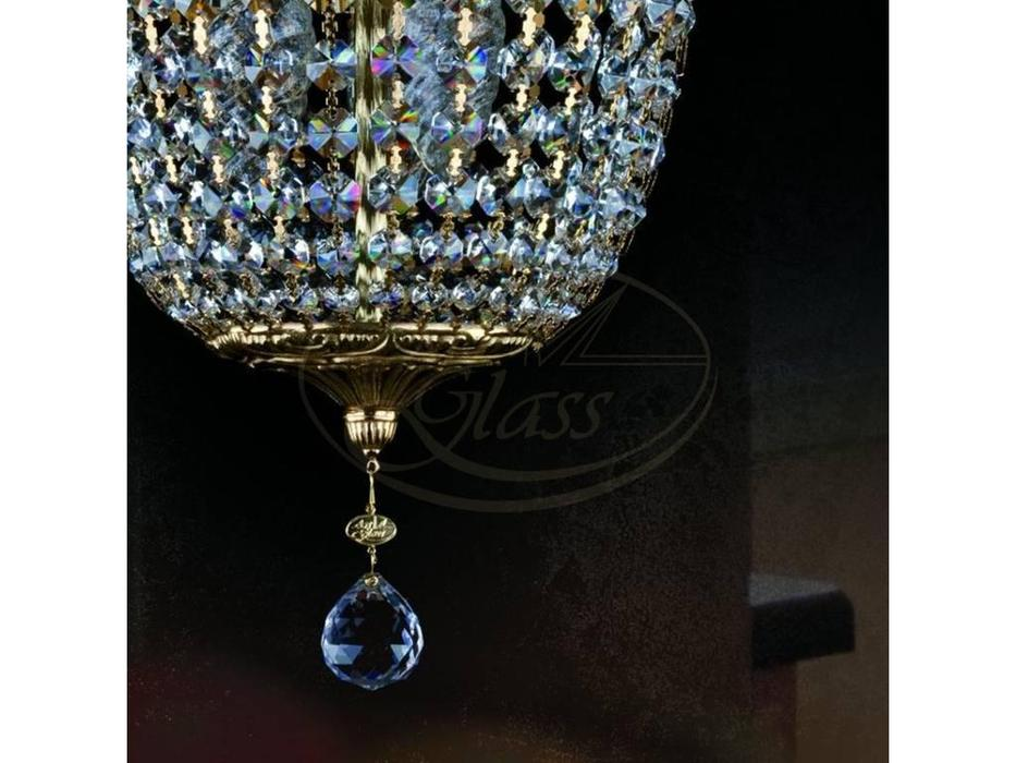 Artglass: люстра ARTEMIS II (никель) 4x40 W