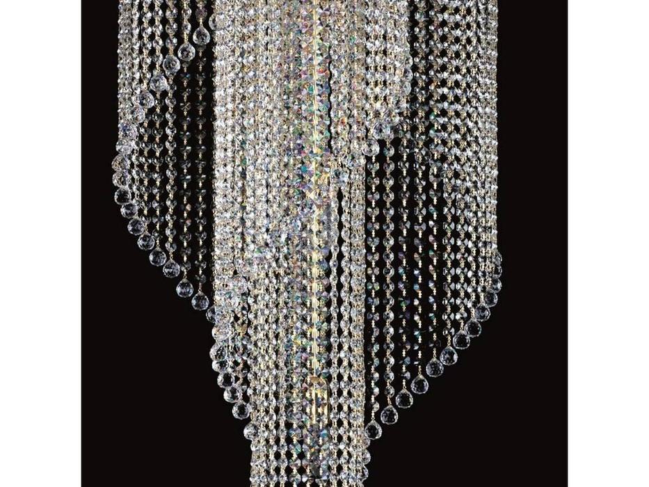 Artglass: люстра POEMA (шлифованная латунь) 9x40 W