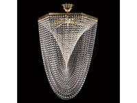 Artglass: люстра CARLISLE (шлифованная латунь) 8x40 W