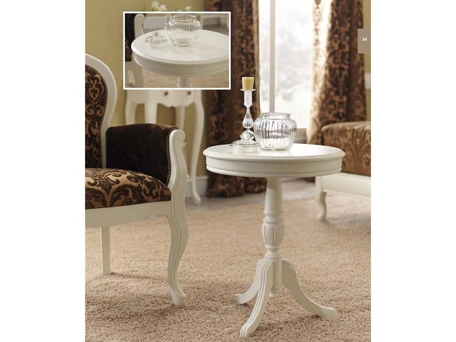 Panamar: стол журнальный круглый  (белый)