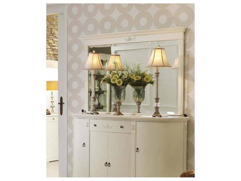 Panamar: зеркало для комода  (белый)
