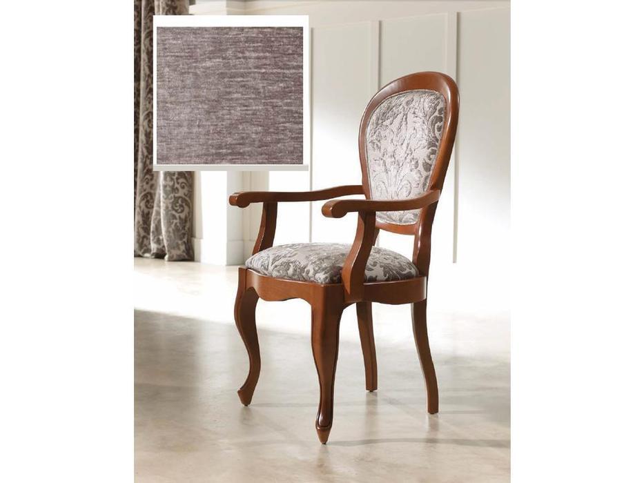 Panamar: стул с подлокотниками  ткань Fiesole C-4 (орех)