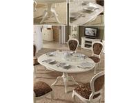 Panamar: стол обеденный круглый раскладной  (белый)