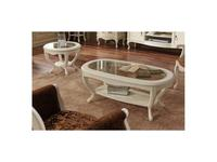 Panamar: стол журнальный овальный  (белый)