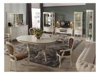 Panamar: стол обеденный раскладной  (белый, золото)