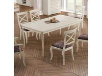 Panamar: стол обеденный  раскладной (белый)