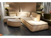 Nieri: Compass: диван угловой кожа, ткань