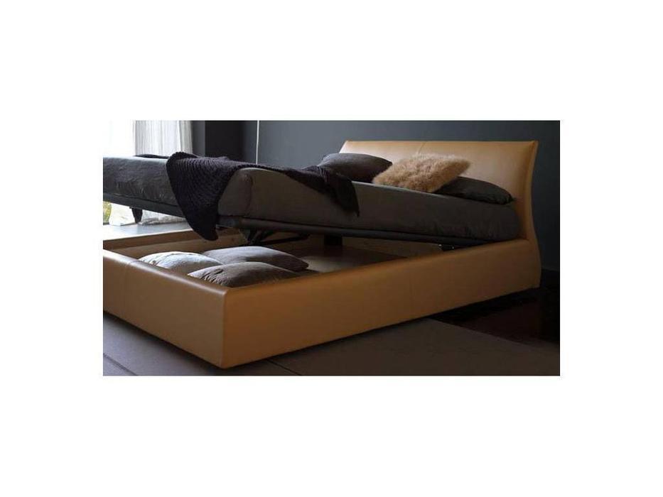 Bolzan: Elios: кровать 160х200 с подъемным механизмом  кожа