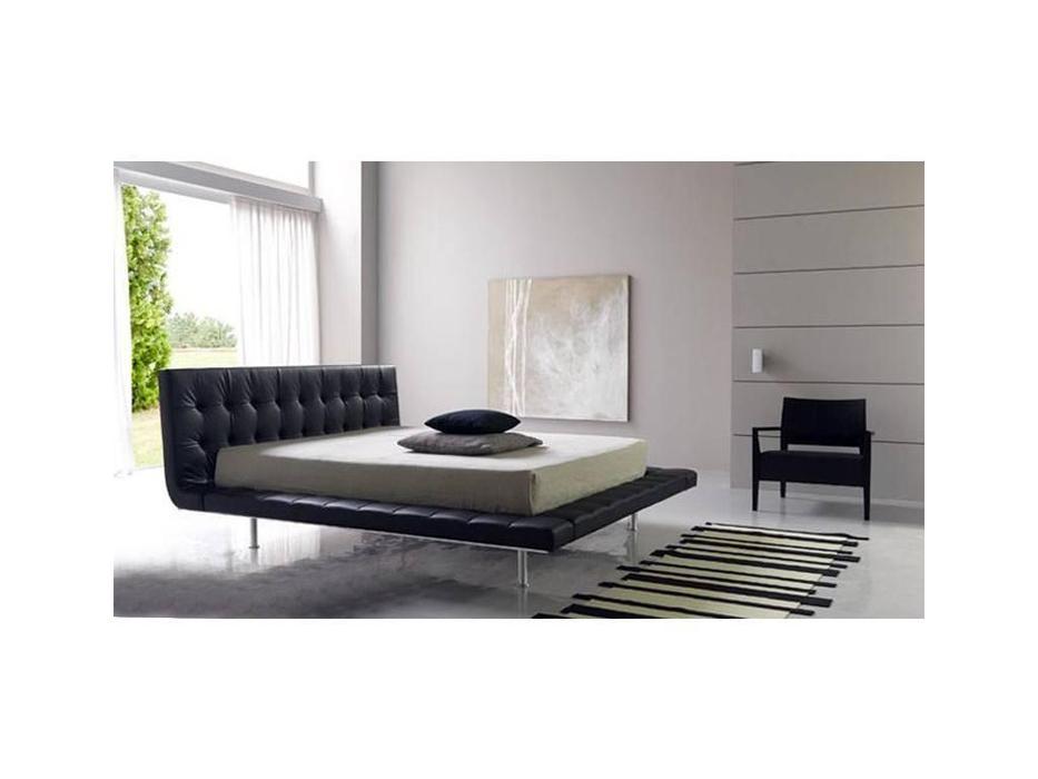 Bolzan: Star: кровать 160х200  кожа
