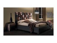 Bolzan: Jadore: кровать 160х200  кожа + экокожа