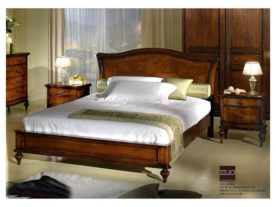 Zilio: Gioconda: кровать 160×200 Джоконда  (орех)