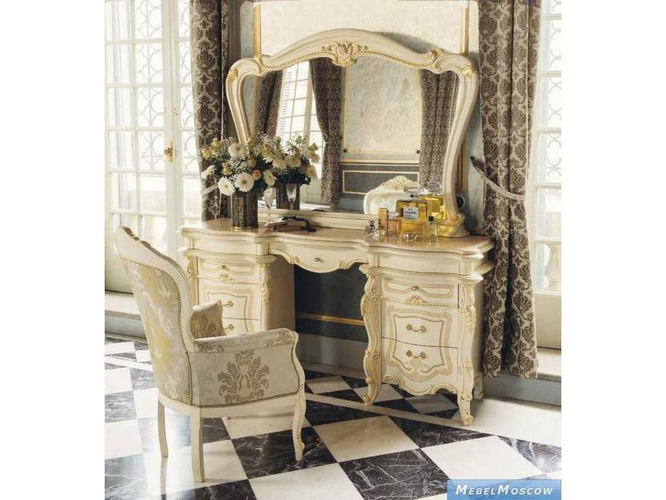 MobilPiu: Опера: стол туалетный (слоновая кость, золото)