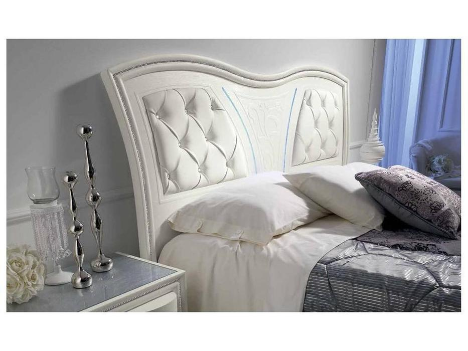 MobilPiu: Gioia: кровать двуспальная 160х190 капитоне (белый)