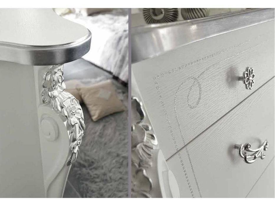 MobilPiu: Виола: комод (белый, серебро)