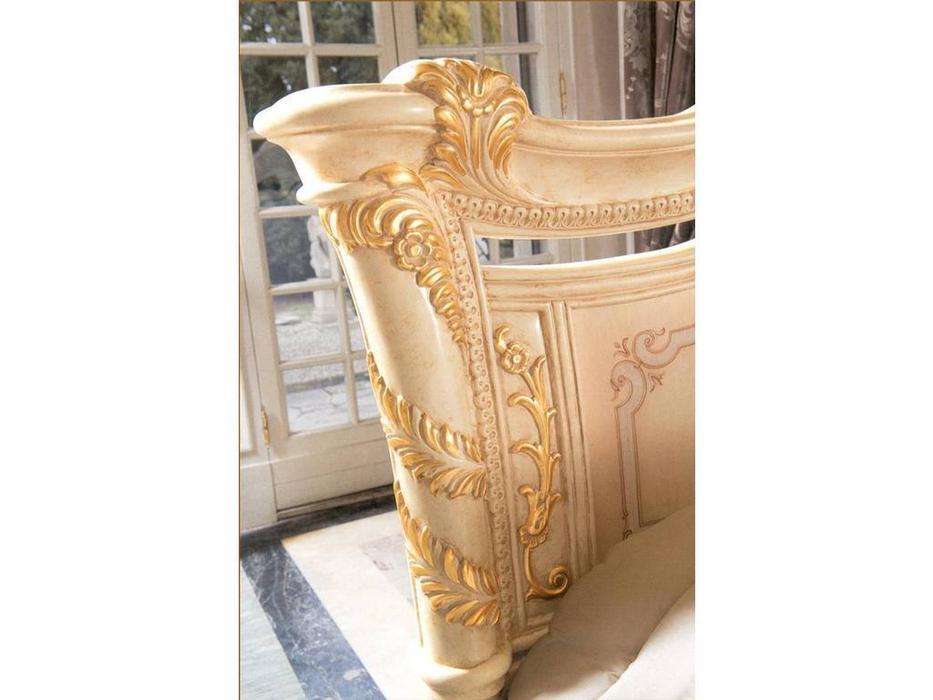 MobilPiu: Madame Royale: кровать 180х200 (слоновая кость, золото)