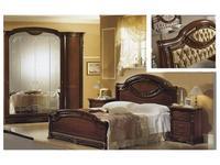 MobilPiu: Регина: кровать 180х200 спинка капитоне ткань (орех)