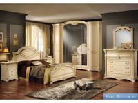 MobilPiu: Регина: спальная комната с 6 дв.шкафом (слоновая кость, золото)