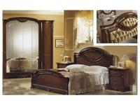 MobilPiu: Регина: кровать 160х190 спинка Капитоне экокожа (орех)