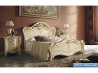 MobilPiu: Опера: кровать 160х190 ткань (слоновая кость, золото)