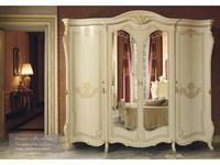 MobilPiu: Опера: шкаф 4-х дверный (слоновая кость, золото)