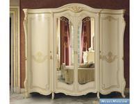 MobilPiu: Опера: шкаф 4-х дверный super (слоновая кость, золото)