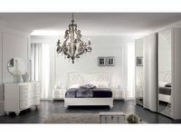 MobilPiu: Gioia: спальная комната №1 с 3-х дверным шкафом (белая)