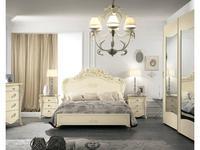 MobilPiu: Виола: кровать 160х190 (слоновая кость, золото)